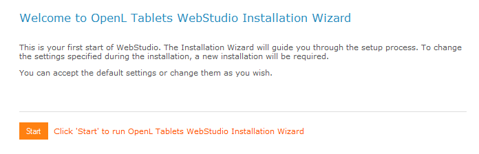 OpenL WebStudio Installation Wizard